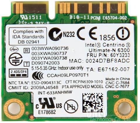 Dla Intel 6300 wireless-n 633ANHMW 450 mb/s WiFi 2.4G/5Ghz pół Mini karta pci-e dla IBM ThinkPad Lenovo X200 X220 X230 T410 T520