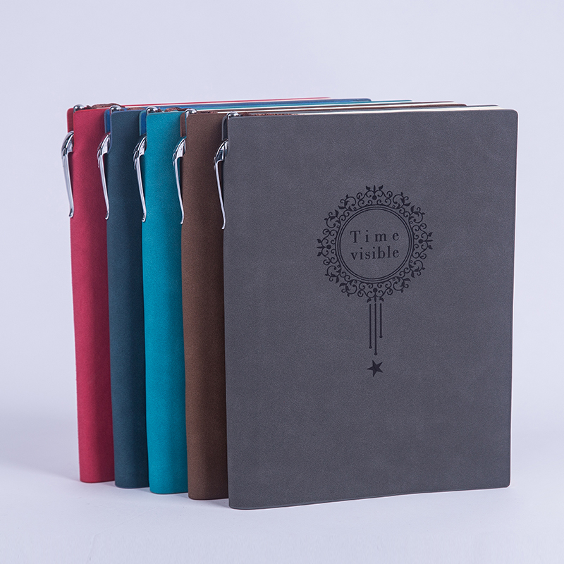 RuiZe Vintage thick notebook with pen A5 leather diary agenda planner note book paper with line office creative stationery
