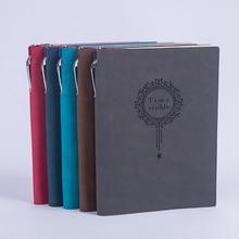 Продажа RuiZe Винтаж толстая тетрадь с ручкой A5 кожаный ежедневник планировщик повестки дня записная книжка бумага с линии офис Творческий канцелярские