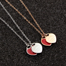 Classic Forever Love Pendant Necklace Women Link Chain Silver Rose Gold Heart Necklace Stainless Steel Jewelry for Women fashion bracelet for women heart rose gold jewelry link chain lady forever love words stainless steel bracelet