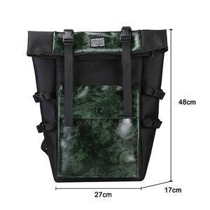 Image 4 - Rétro unisexe sac à dos grande capacité en cuir PU haute qualité femmes sac à dos tourisme jeunesse multi fonction sac angleterre Style