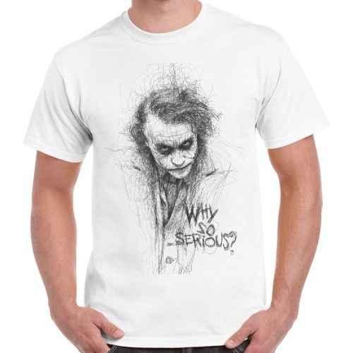 Джокер эскиз Готэм почему так много крутой винтажный комикс Ретро футболка 472