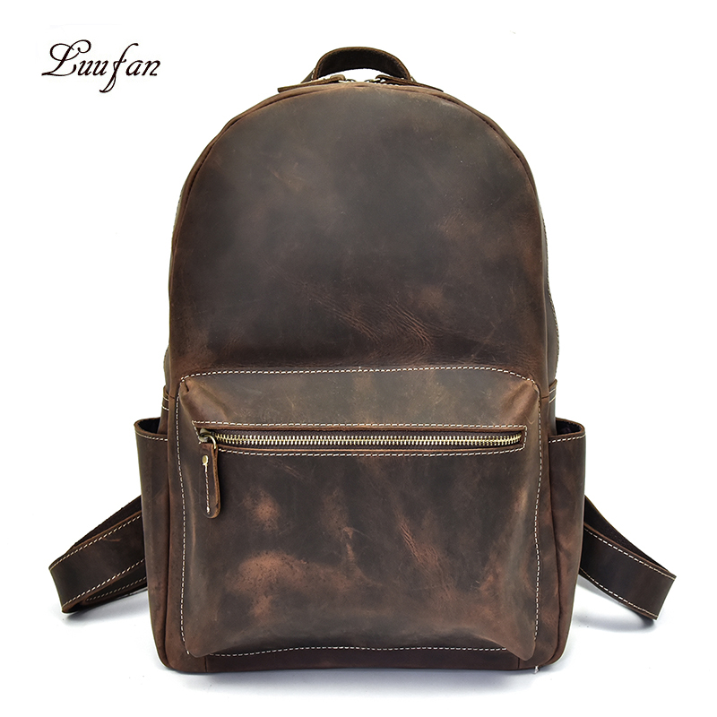 Extra big Capacity Men Backpack Vintage Crazy Horse Genuine Leather Laptop Rucksack Daypack School Backpack Cowhide Travel BagExtra big Capacity Men Backpack Vintage Crazy Horse Genuine Leather Laptop Rucksack Daypack School Backpack Cowhide Travel Bag