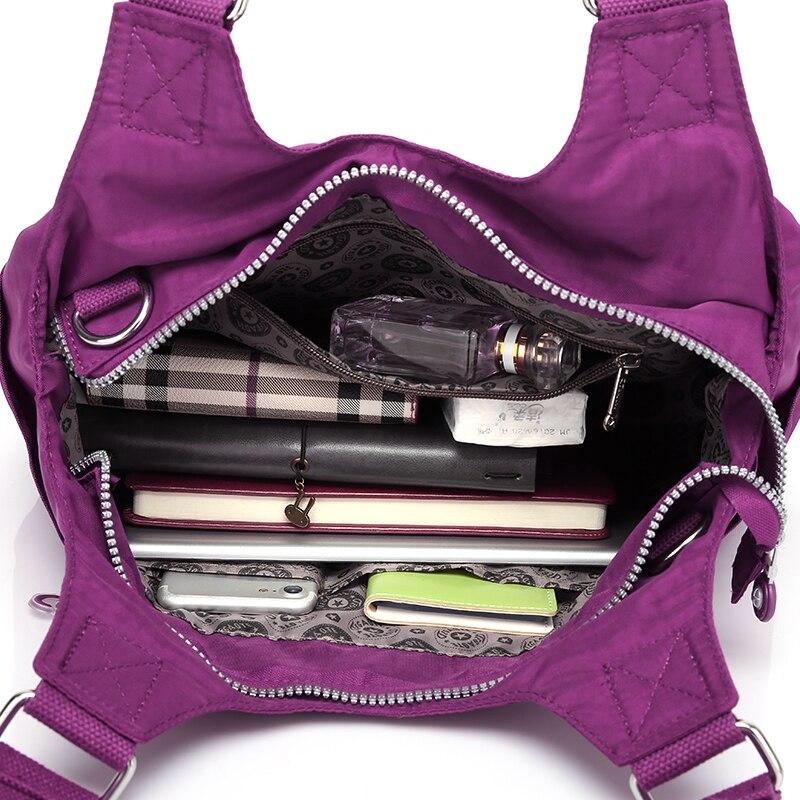 Tegaote Women Handbag Large Shoulder Bag Nylon Casual Tote Famous Brand Purple Handbags Mummy Diaper Bags Waterproof Bolsas In From Luggage