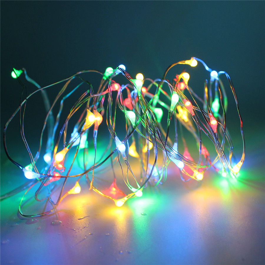 5M 10M RGB Led Christmas String Light With Remote Controller Battery ...