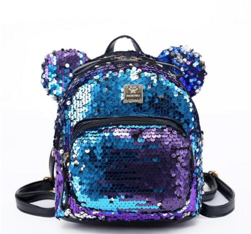 2018 Hot Women Sequins Backpack BlingBling Girls School Bags for Teenage Girls Mini Backpack Women Small Travel Bag Mochila hot sale women s backpack the oil wax of cowhide leather backpack women casual gentlewoman small bags genuine leather school bag