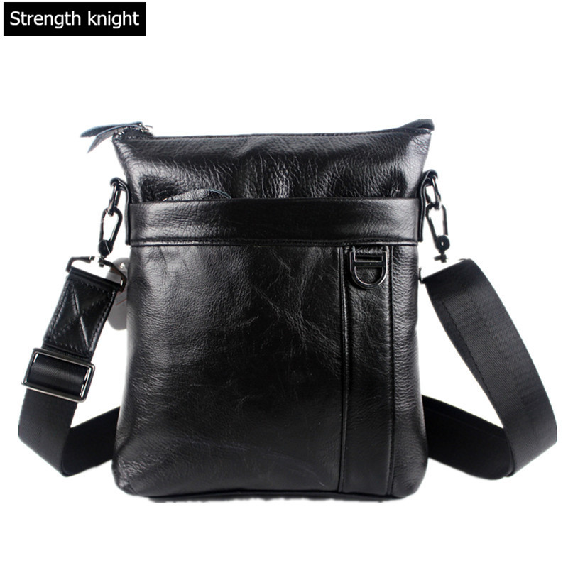 New Arrived Fashion Men's Messenger Bag Business Bag Brand Genuine Leather Men Bag Real Leather Cross Body Bags for Men aetoo the new oil wax cow leather bags real leather bag fashion in europe and america big capacity of the bag