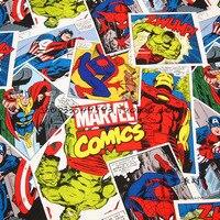 Réaliste Le Avengers Tissu 100% Coton Tissu Comics. The Avengers Imprimé Tissu BRICOLAGE À Coudre Patchwork Maison Matériau En Tissu