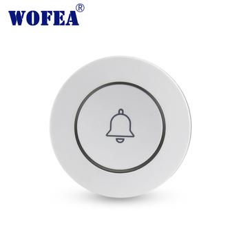 Wofea nowy jeden klucz awaryjne przycisk SOS przycisk alarmowy bezprzewodowy przycisk paniki przycisk dzwonek do drzwi dla V10 system alarmowy tanie i dobre opinie ZC-S030 433MHZ white 50-80m open air 1527type 330K 1pcs CR2032(Not included) one year
