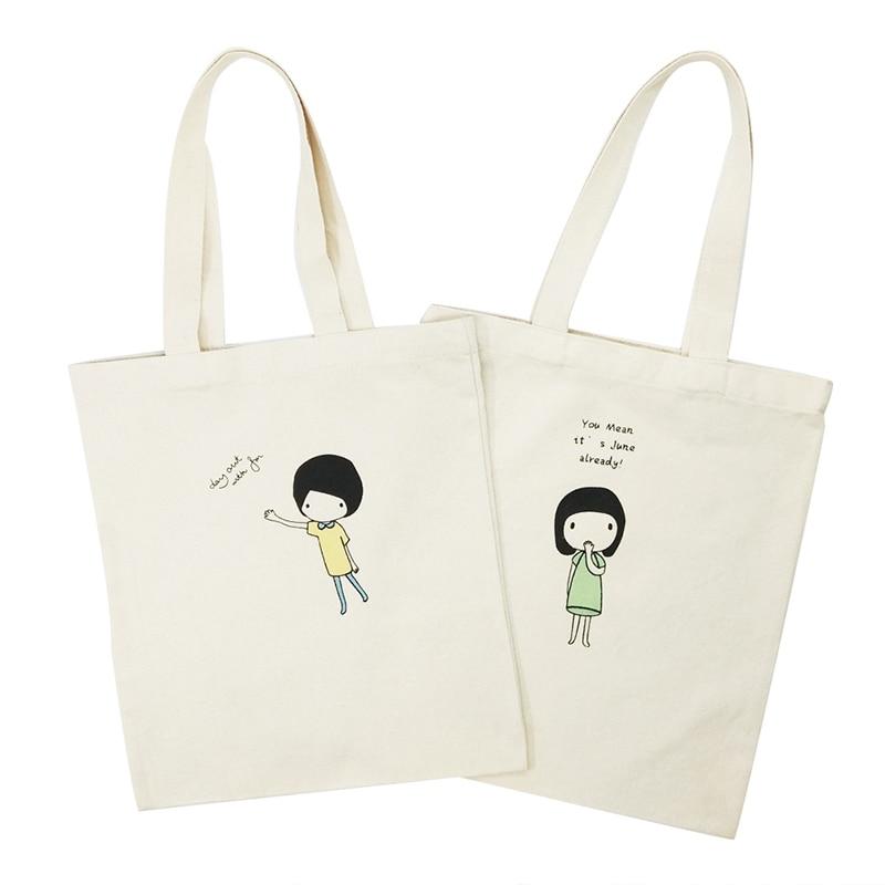 Canvas Reusable Green Shopping Bag