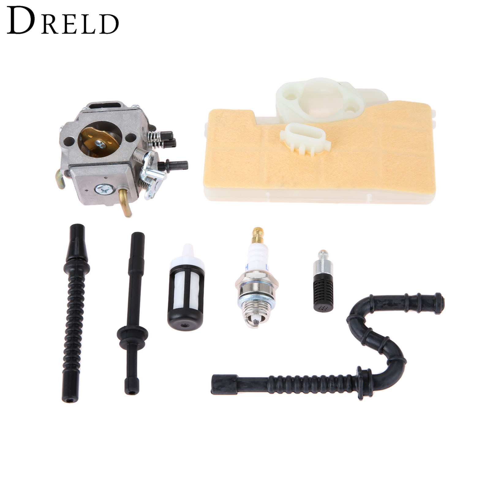 DRELD Carburetor Carb with Air Filter Fuel Line Spark Plug Repower Kit for STIHL MS290 MS310 MS390 029 039 Chainsaw Garden Tools