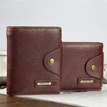 Genuine Leather Men Wallets Design Short Small Mens Purses Card Holder