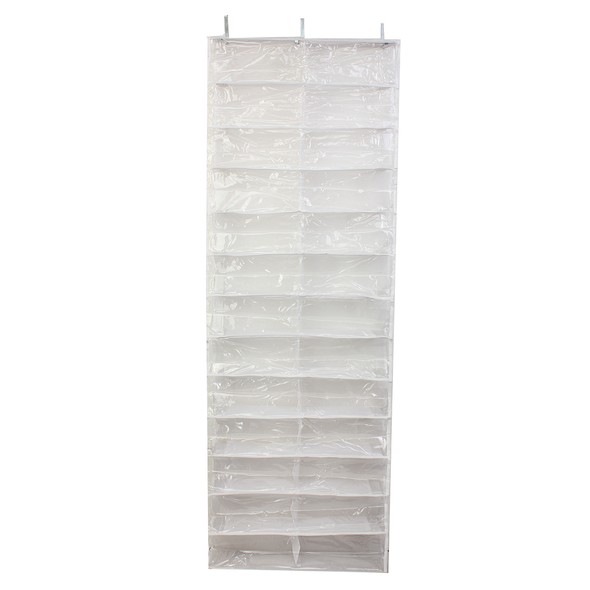 Image 2 - 26 Pairs Over Door Hanging Stand Shoe Rack Shelf Storage Organiser Pocket Holder Creamy white Black-in Shoe Cabinets from Furniture