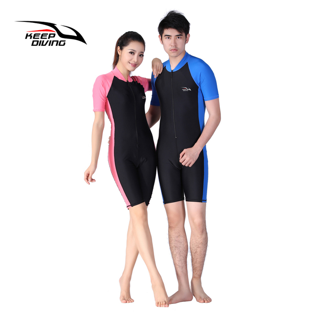 KEEP DIVING Lycra Wetsuit Stinger Wet Suits Diving Skin For Men Or Women One -piece Short Sleeve Jump Suit Swimsuit Swimwear 5dee81629