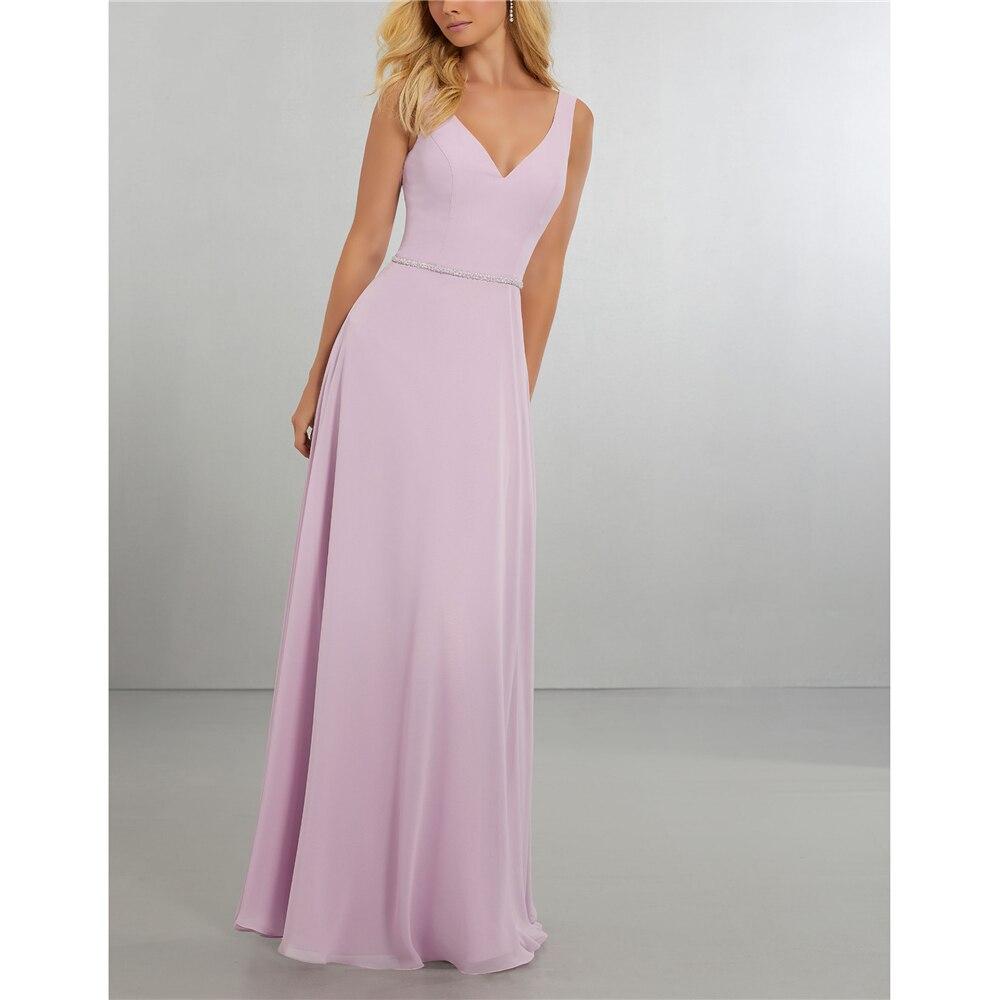 A-Line Deep V-neck Light Purple Beading With Jacket   dress   for wedding party   Bridesmaid     Dresses   vestido de festa longo