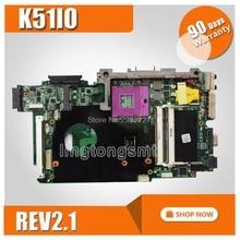 K51IO материнских плат REV: 2,1 Для ASUS K51IO X66IC K61IC K70IO Материнская плата ноутбука K51IO материнская плата K51IO Материнская плата Тест 100% ОК