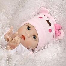 NPK Newborn Reborn Baby Dolls Silicone Cute Soft Babies Doll For Girls Princess Kid Fashion Bebe Reborn Dolls 55cm