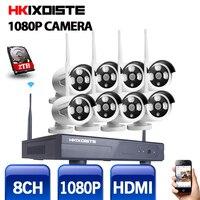 Plug And Play 8CH Wireless NVR Kit P2P 1080P HD Outdoor IR Night Vision IP Video