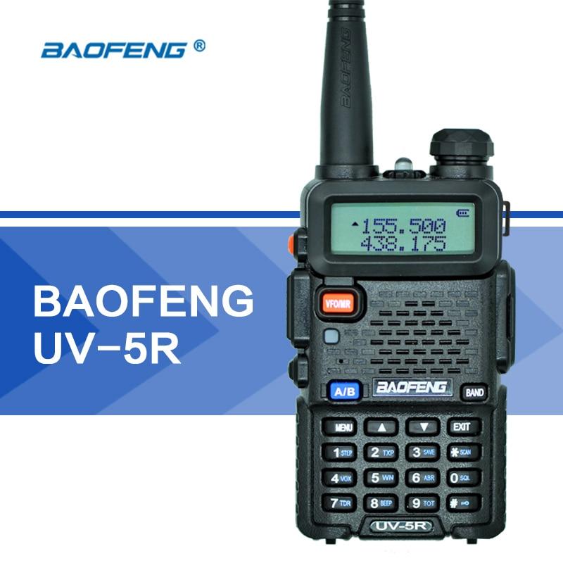 imágenes para Baofeng UV-5R UV5R Walkie Talkie UHF VHF radio de Doble Banda CB Radio 128CH VOX Linterna Dual Display FM Transmisor-Receptor para La Caza Radio