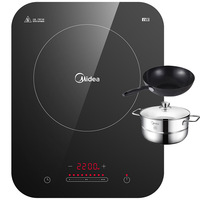 Midea Induction Cooktop Home WH2237 Smart and High Power Hotpot Battery Cooker Electric Hot Pot Cooker Stove Tool