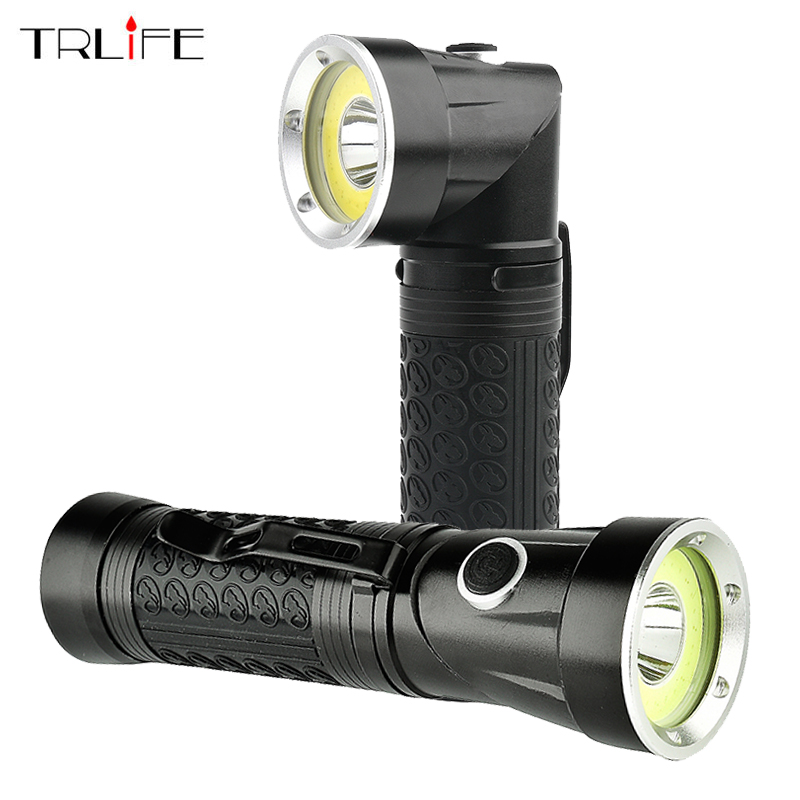 Super Bright CREE XML T6+COB  Led Flashlight Waterproof Torch Adjustable Lanterna Lamp for 18650 or AAA Hunting Fishing Light ac eu waterproof cree xml t6 zoomable flashlight 3800 lumen super bright adjustable focus torch lamp for 3xaaa or 1x18650battery