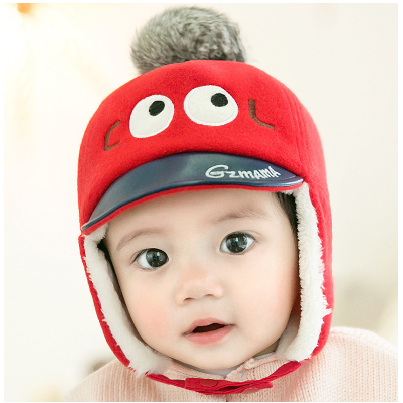 Children's winter hats Cute imitation Nigeria tongue hat ear muffs cap newborn props baby hats for children Headwear baby caps