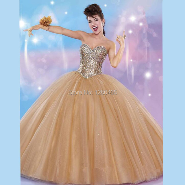 3934838fa Ivory Off White and Gold Quinceanera Dresses Sweet 15 Dresses Vestidos  Debutantes 15 Anos Sweet 16 Ball Gowns