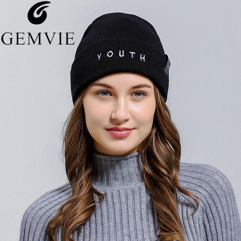 New Ladies Women Casual Knitted Beanies Hat Stylish Female Autumn Winter  Soft Warm Skullies Snow Cap Fashion Accessories 05edb0abece