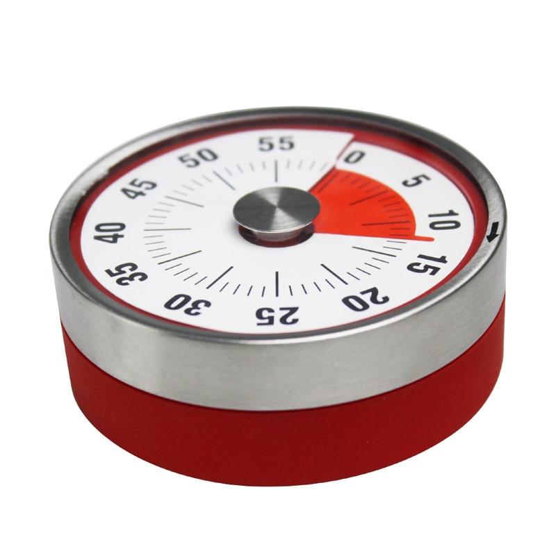 Gadgets cozinha cozinhar lembrete contagem regressiva temporizador eletromagnética mecânica cozinhar despertador manual de aço contagem regressiva bak pak55