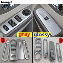 High Quality ABS chrome door Window glass inner panel Armrest Lift Switch Button trim frame 4pcs For Renault Captur 2015 2016 abs inner door armrest window lift switch button cover trim for mazda 3 2014 2015 2016 2017 car accessories