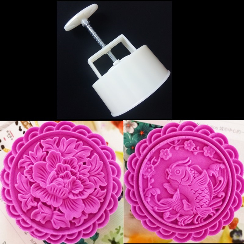 Kitchen & Home Beautiful Gourmet Baking Tools 1 Sets Moon Cake Round Mold 1 Mold 25g 3 Stamps Figure