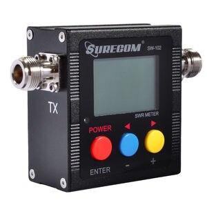 Image 3 - SureCom Medidor de corriente Digital SW 102 SWR, contador de frecuencia y 2 adaptadores RF, cubierta de 125MHz ~ 520MHz para escáner transceptor Ham