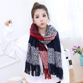 Warm Winter Fashion Women Long Acrylic Scarf Large Shawl Lady Plaid Scarf