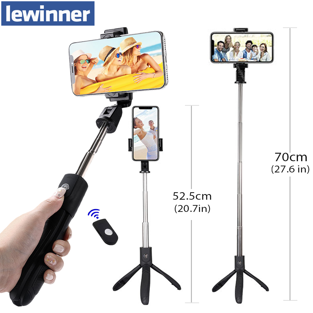 Lewinner K06 Handheld Extendable Tripod Monopod Camera Phone Selfie Stick with Bluetooth Remote Shutter Mobile Phone Stick цена
