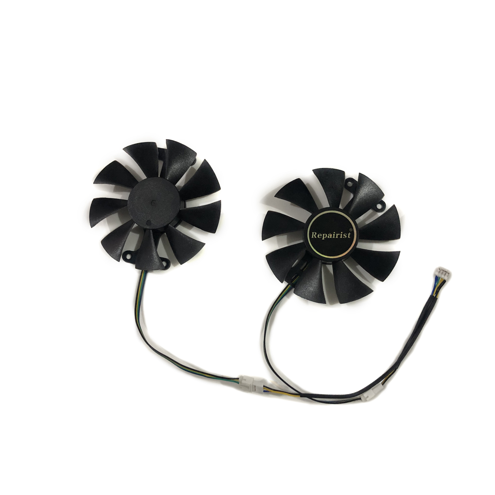 2pcs/set GTX1060 GPU Cooler Video cards fan For KFA2 GTX 1060 EX OC White Graphics Card cooling as Replacement image