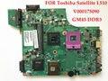 Alta calidad placa madre del ordenador portátil para toshiba satellite l510 v000175090 gm45 ddr3 100% probado completamente