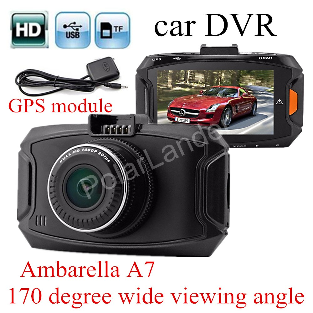 GS90A Ambarella A7LA50 Car DVR HD Car Camera Recorder with GPS module Night Vision LCD 170 degree wide viewing angle module gs r400v module rxdz