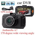 GS90A Ambarella A7LA50 Car DVR HD Car Camera Recorder with GPS module Night Vision LCD 170 degree wide viewing angle