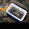 Bomba de Ar de Pesca ao ar livre de Energia Solar Ultrasonic Mosquito Repelente Função Ir À Pesca e Função de Carregamento Do Telefone Móvel luz