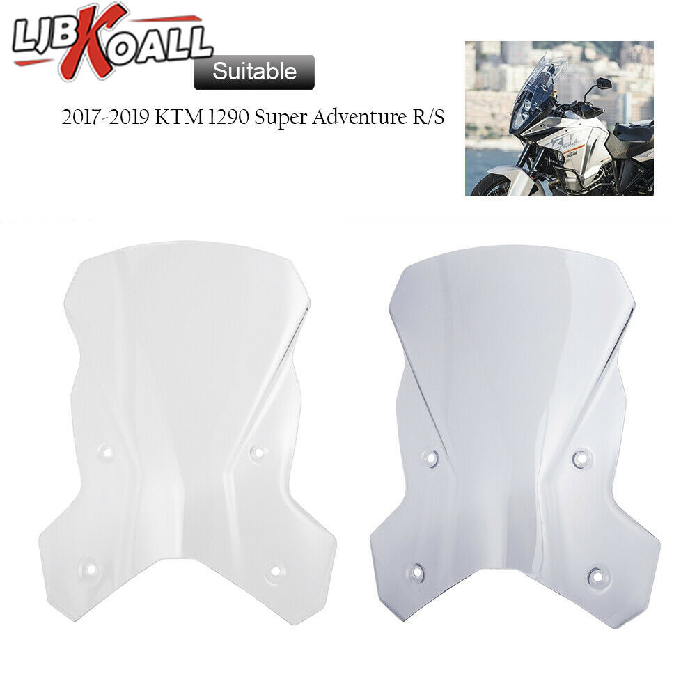Windscreen Wind Deflector Windshield Motorcycle Parts For <font><b>KTM</b></font> <font><b>1290</b></font> <font><b>Super</b></font> <font><b>Adventure</b></font> R <font><b>S</b></font> 2017 2018 <font><b>2019</b></font> Clear Light Smoke Color image