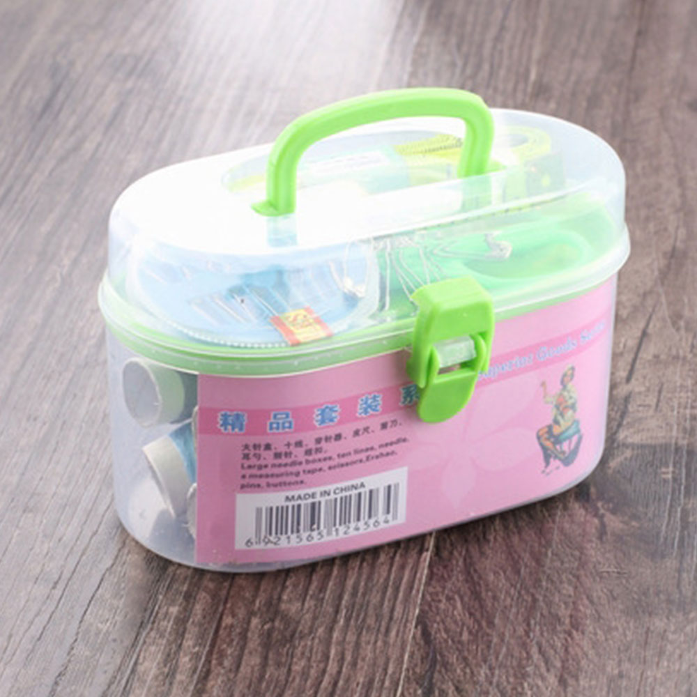 Нить иглы ремонтный набор ремесло практичная пластиковая швейная коробка удобный набор для путешествий швейный набор мини Кнопка Одежда для начинающих