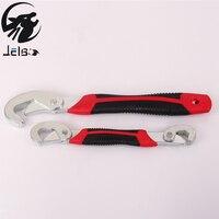 Jelbo Verstellbarer Schraubenschlüssel Set Portable Quick Snap und Grip Schraubenschlüssel Universalschlüssel 2 Stücke Schlüssel Kombination Ratsche