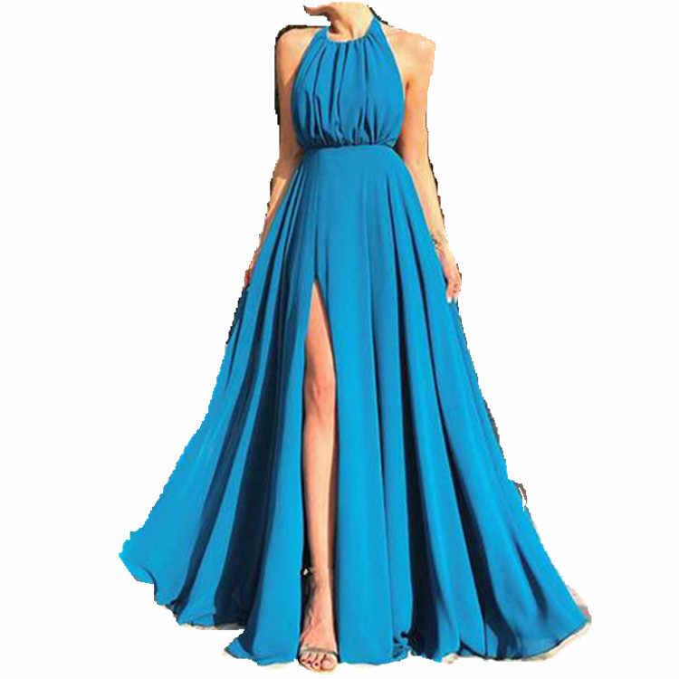 2019 섹시한 여성 랩 클럽 boho 드레스 배킹 붕대 긴 맥시 드레스 파티 로브 홀터 비치 스플릿 드레스 femme