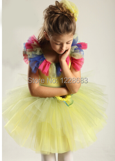 Free Shipping Yellow Fairy Flower Tutu Skirt Women Ballerina Dress Kids And Adult Professional Tutus In Ballet From Novelty Special Use On Aliexpress