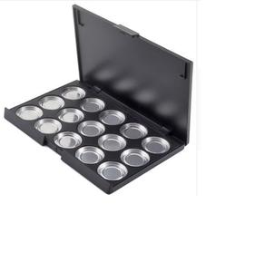 New Large Size 15 Slots 26mm Empty Eyeshadow Aluminum Pans with Palette -35
