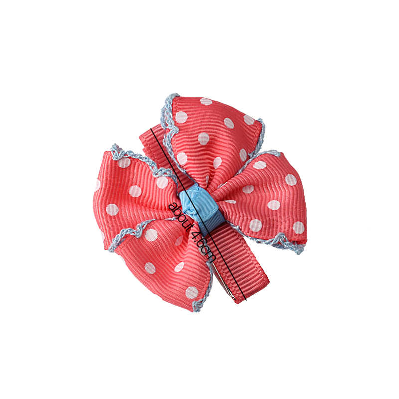 M MISM 女の赤ちゃんのプリンセスドレスアクセサリーの女の子の子供プリントドット弓帽子ヘアピンの髪クリップ子供のアクセサリー
