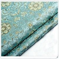 Tecido brocado Jacquard Damasco estilo América Vestuário Traje Estofos Mobiliário Cortina DIY Roupas Material por metro