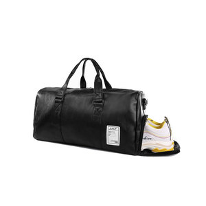 Image 2 - Men Travel Bags with Shoe Bags Waterproof Travel Duffle Bag Men Women Sports Gym Bags High Grad Pu Leather Outdoor Overnight Bag