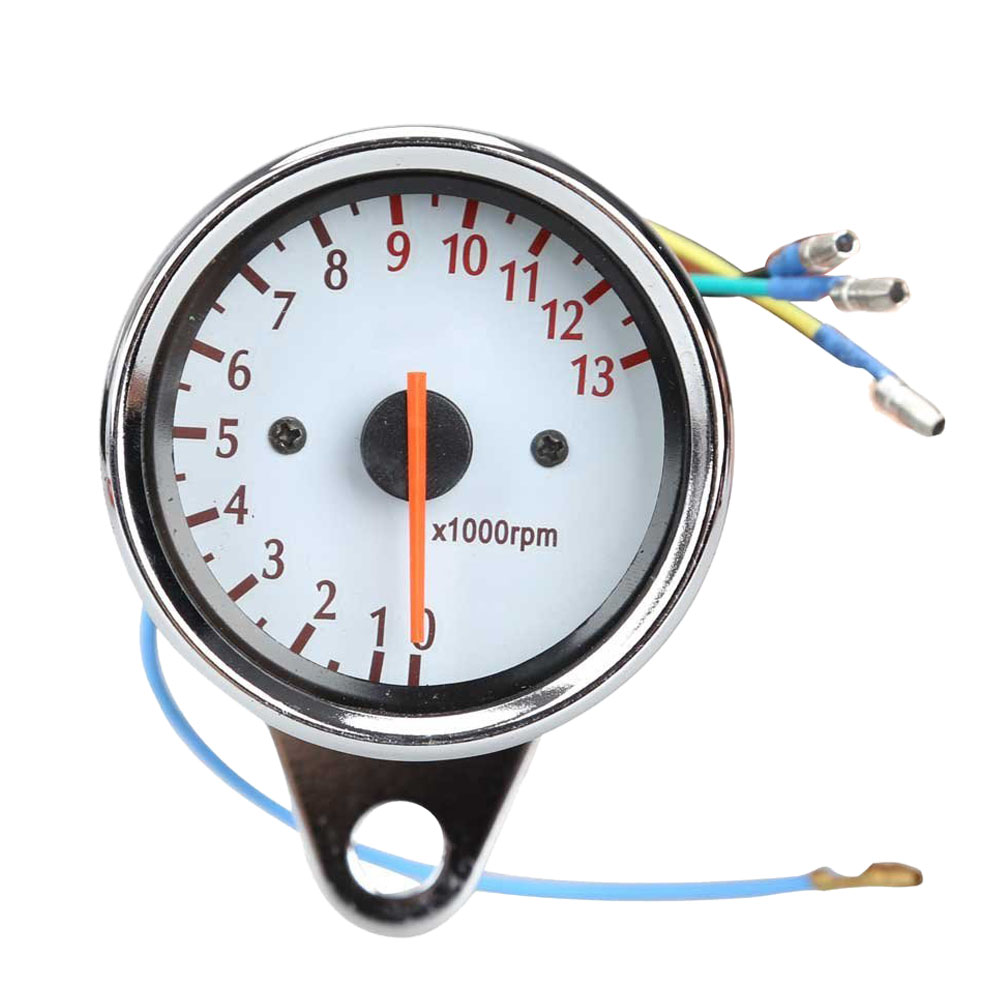 Universal Motorcycle Scooter 13000RPM Analog Tachometer Gauge Night Light