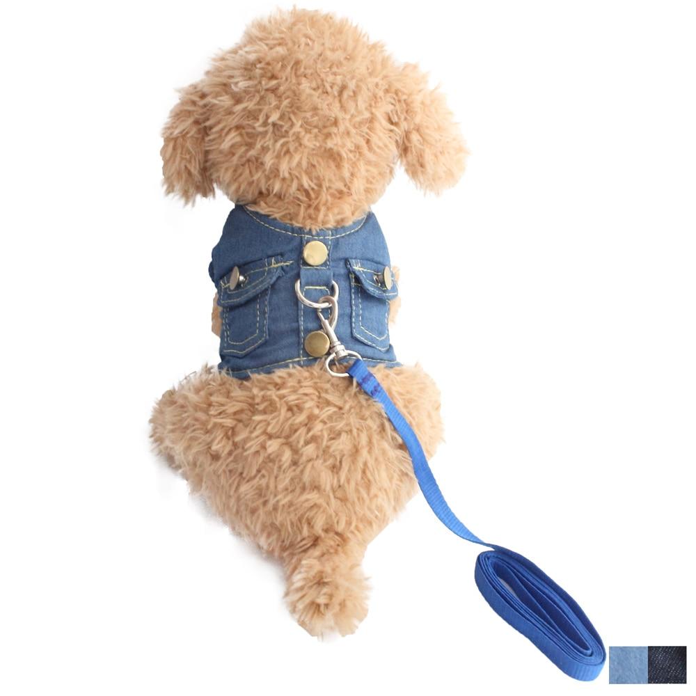 Weste Kleine Hund Halter Harness Blei Denim Brustgurt Für Hunde Katze 6044039 Pet Welpen Liefert S M L